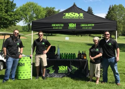 T&M Properties Golf Outing Tent