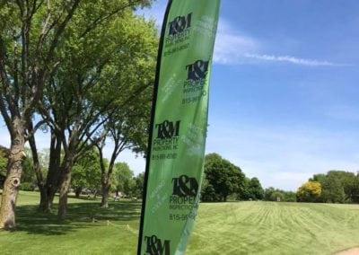 T&M Properties Golf Outing Flag